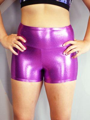 Purple Sparkle Gym Short