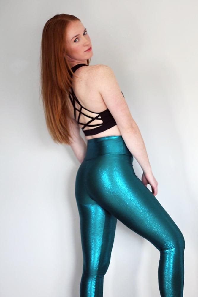 Rarr Designs Jade Sparkle Full Length Leggings/Tights