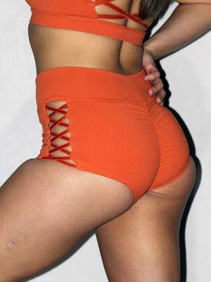 Rarr designs Ziki High Waisted Booty Short Ginger