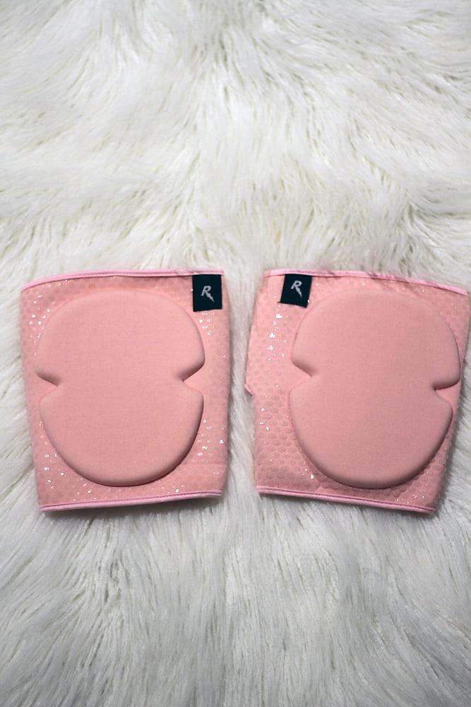 Velcro Neoprene Gel Dot Grip Knee Pads Black Baby Pink