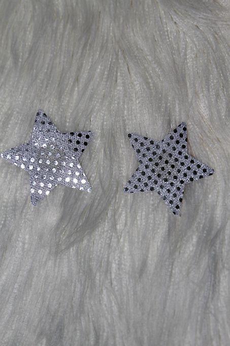 Rarr Designs Star Sequin Nipple Pasties Silver