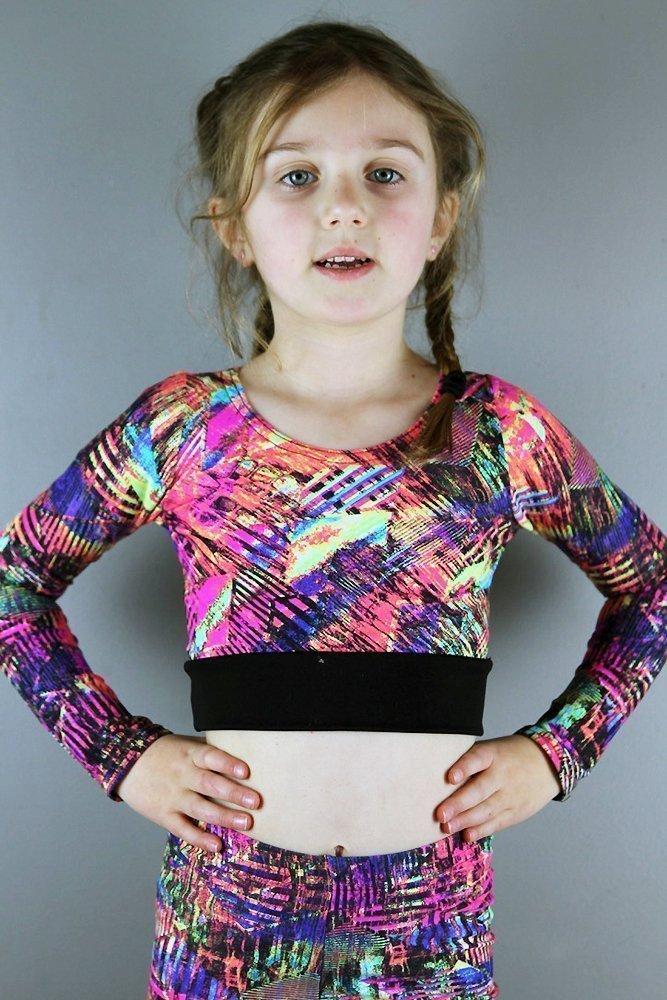 Blaze Long Sleeve Crop Top Youth Girls