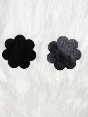 Rarr designs Flower Nipple Pasties Black