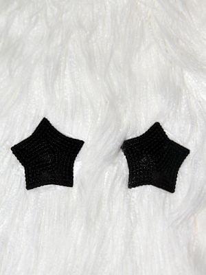 Rarr Designs Star 3D Sequin Nipple Pasties Black