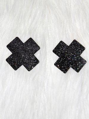 Rarr Designs X Glitter Nipple Pasties Black