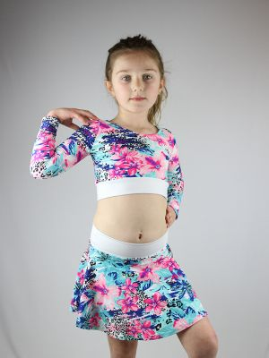 Hibiscus Skater Skirt Youth Girls