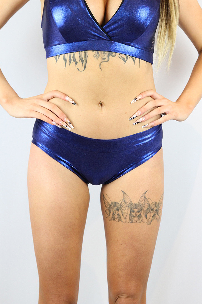 Rarr Designs Navy Sparkle Naughty Fit Shorts