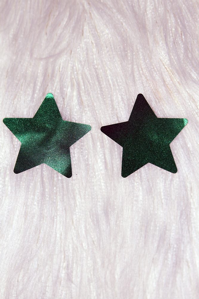 Rarr Designs Star Nipple Pasties Metallic Green