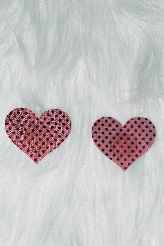 Rarr Designs Heart Sequin Nipple Pasties Pink