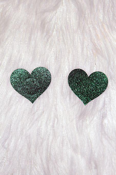 Rarr Designs Star Glitter Nipple Pasties Green