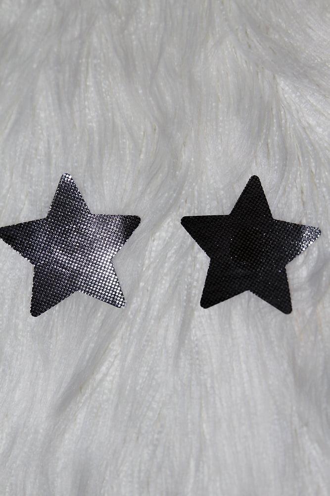 Rarr Designs Star Sparkle Nipple Pasties Black