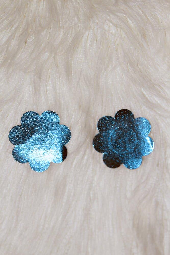 Rarr Designs Flower Sparkle Nipple Pasties Blue