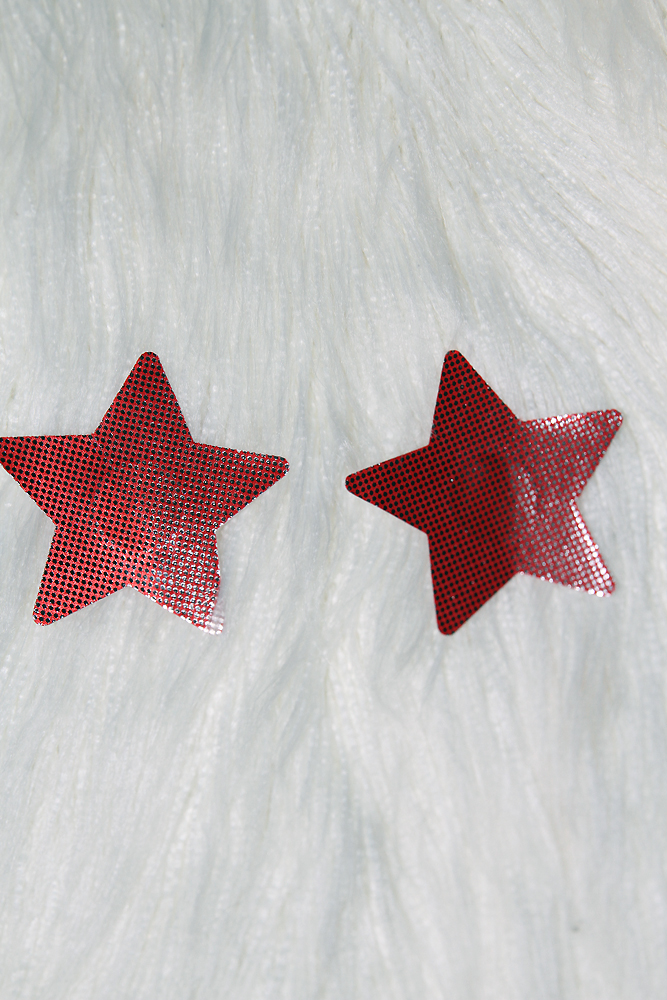 Rarr Star Sparkle Nipple Pasties Red