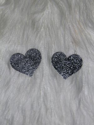 Rarr Designs Heart Glitter Nipple Pasties Silver