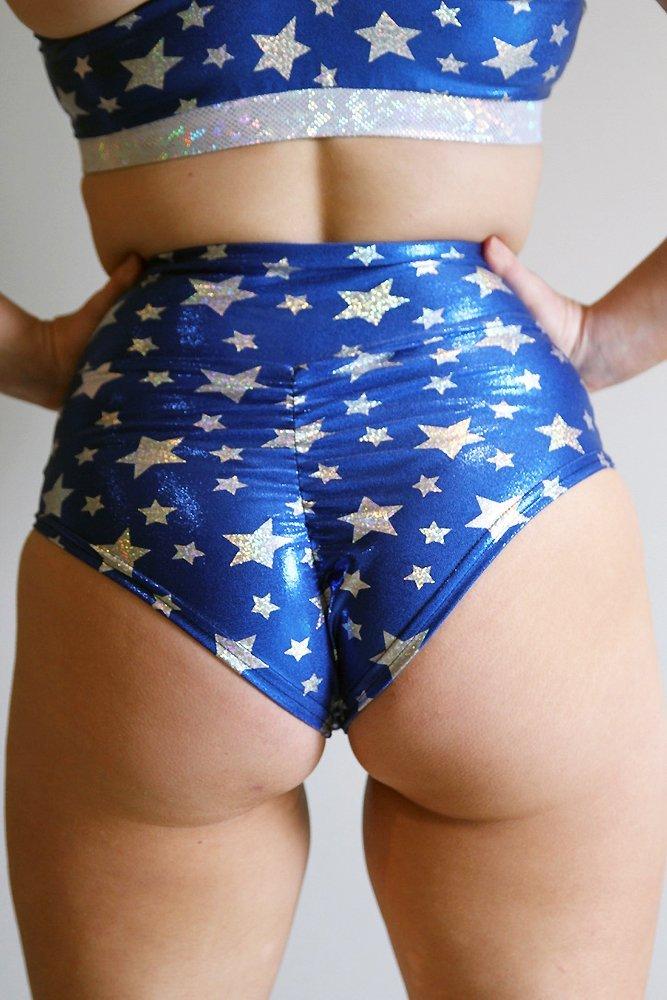 Wonder Woman SUPER High Waisted BRAZIL Scrunchie Bum Shorts