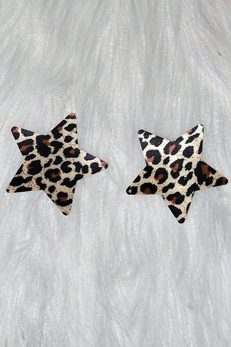 Rarr Designs Star Nipple Pasties Leopard