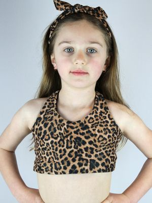 Animal Crop Top Sports Bra Youth Girls