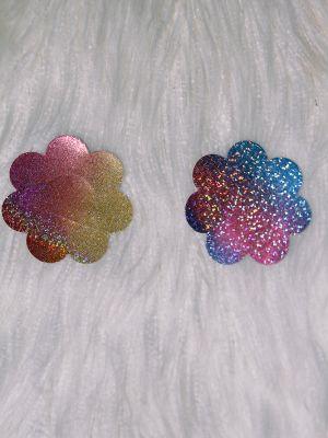 Rarr Designs Flower Sparkle Nipple Pasties Rainbow