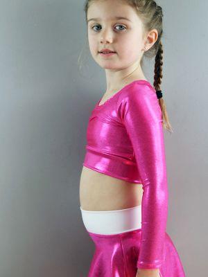 Youth Girls Long Sleeve Crop Top