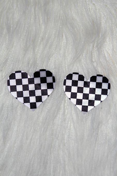 Rarr Designs Heart Nipple Pasties Black & White
