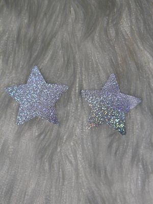 Rarr Designs Star Sparkle Nipple Pasties Silver