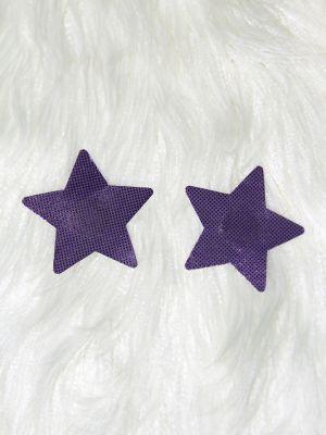 Rarr Designs Star Nipple Pasties Metallic Purple