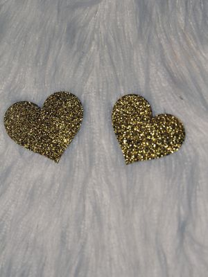 Rarr Designs Heart Glitter Nipple Pasties Gold