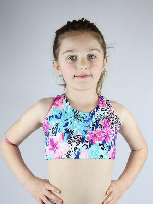 Hibiscus Crop Top Sports Bra Youth Girls