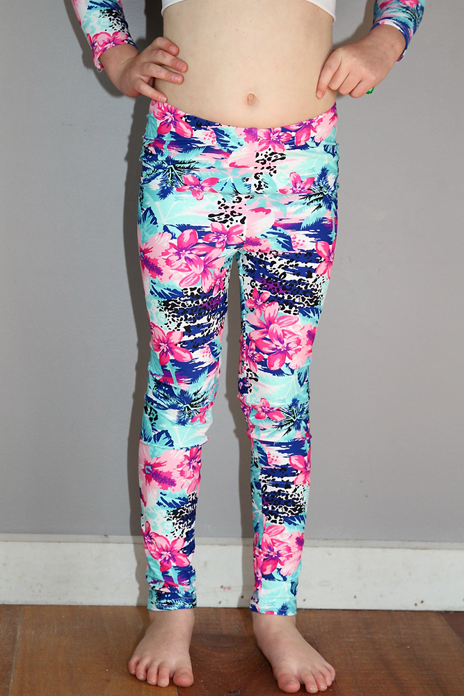 Hibiscus Youth Leggings/Tights