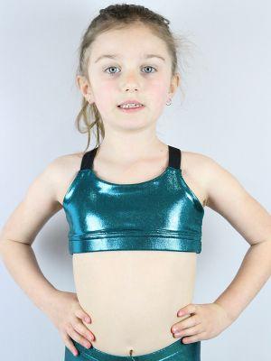 Jade Sparkle V Sports Bra Youth Girls