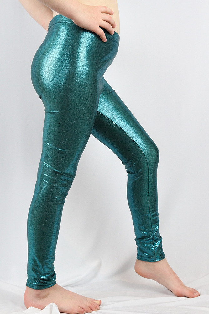 Jade Sparkle Youth Leggings/Tight