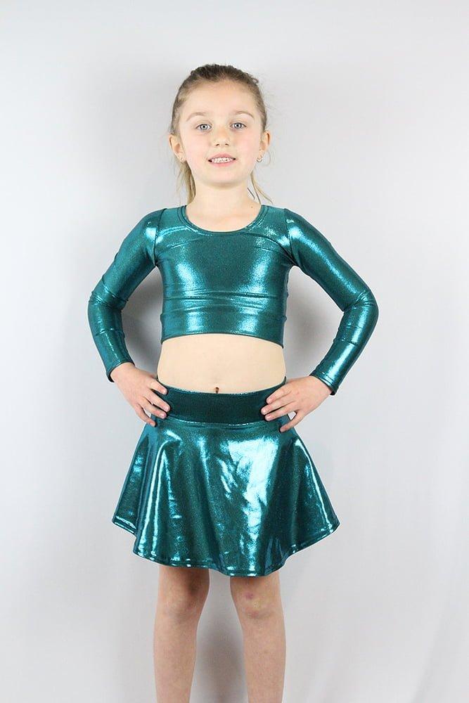 Jade Sparkle Skater Skirt Youth Girls