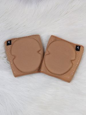 Rarr Designs Velcro Neoprene Gel Dot Grip Knee Pads Beige