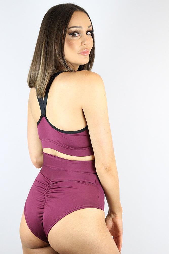 Rarr designs Fig SUPER High Waisted BRAZIL Scrunchie Bum Shorts