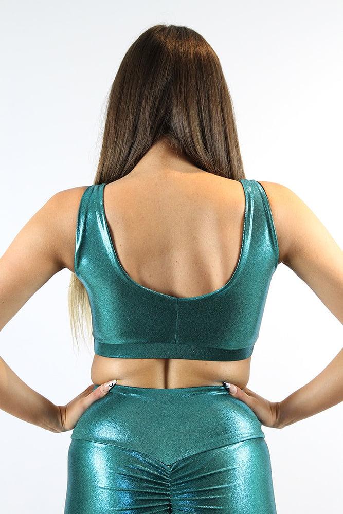 Rarr designs Jade Sparkle Sweet Scoop Sports Bra