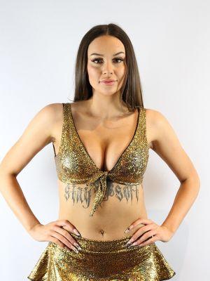 Rarr designs Gold Shattered Tie-up Bra