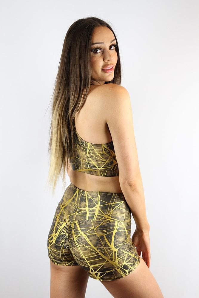 Rarr Designs Metallica Gym Short Honey