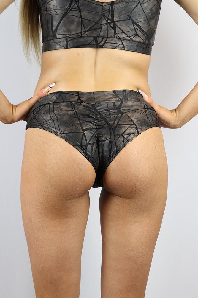 Rarr designs Metallica BRAZIL Fit Scrunchie Bum Shorts Nero