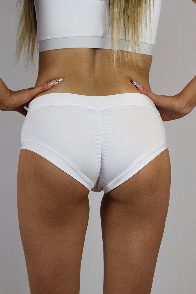 Rarr designs Matte White Naughty Fit Shorts