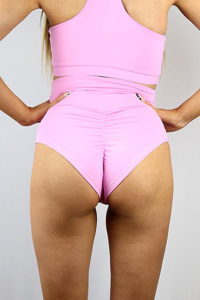 Rarr designs Peony SUPER High Waisted BRAZIL Scrunchie Bum Shorts