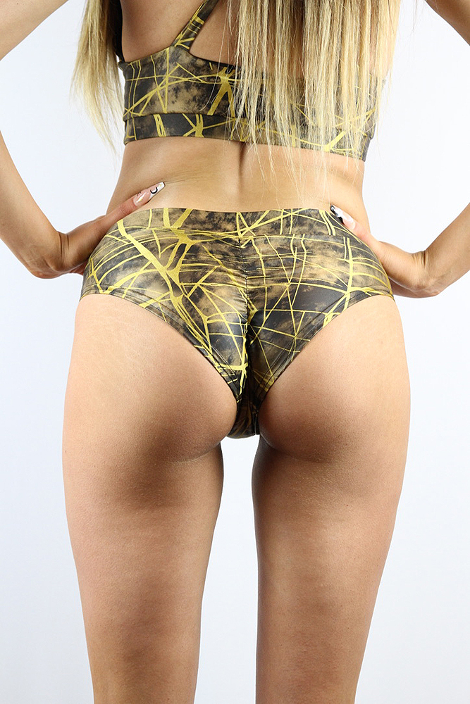 Rarr designs Metallica BRAZIL Fit Scrunchie Bum Shorts Honey
