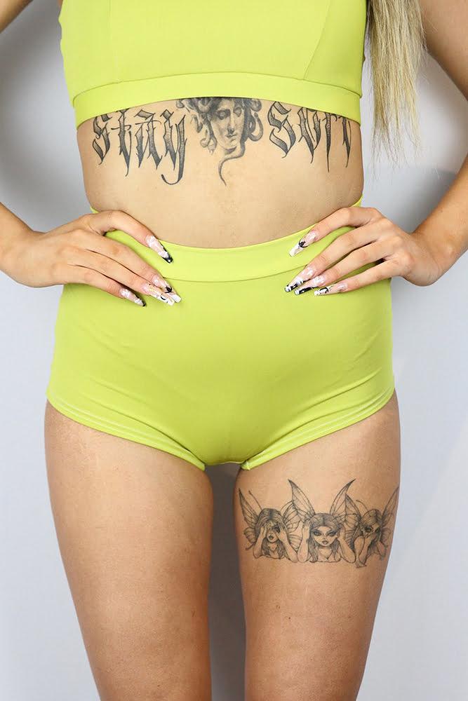 Rarr designs Citrine High waisted Cheeky Bum Shorts
