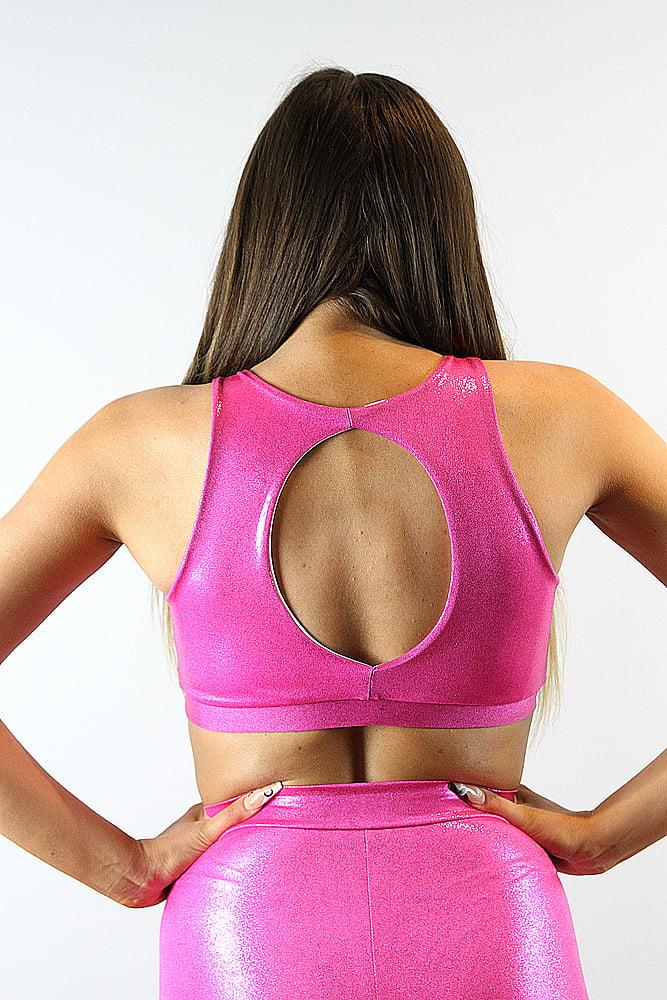 Rarr designs Pink Sparkle High Top Bra