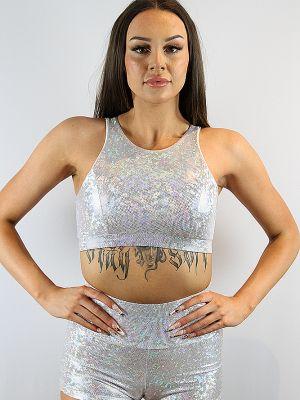 Rarr designs White Sparkle High Top Bra