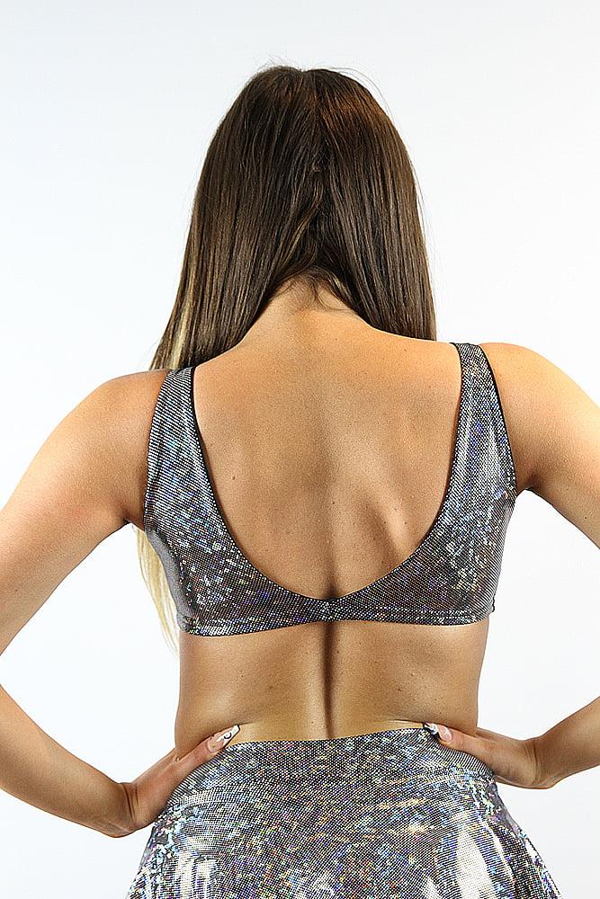Rarr designs Silver Shattered Tie-up Bra