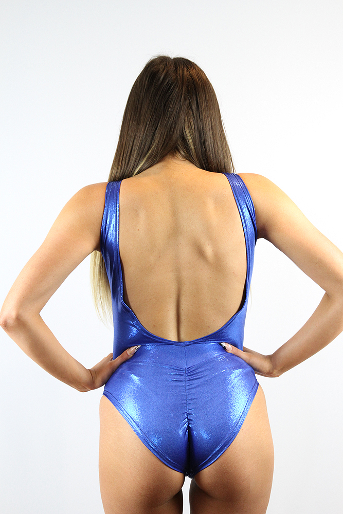 Rarr designs Royal Blue Sparkle One Piece Leotard Bodysuit