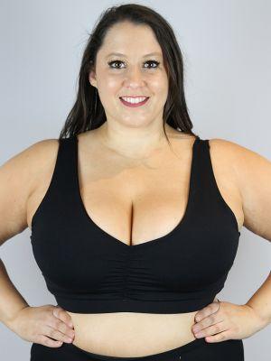 Matte Black Sweet Scoop Sports Bra - Plus Size
