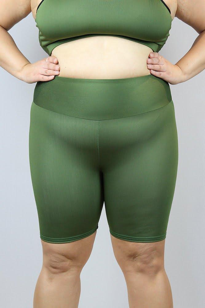 Olive Bike Short - Plus Size