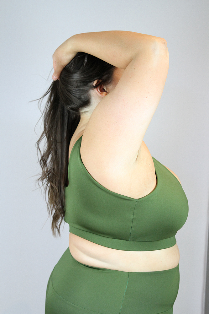 Olive Sweet Scoop Sports Bra - Plus Size
