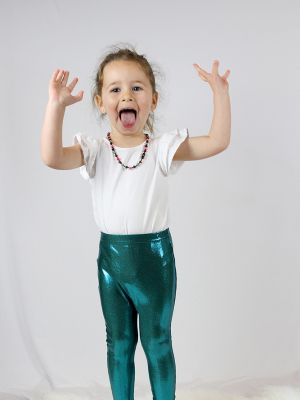 Jade sparkle Baby Toddler Leggings/ Tights